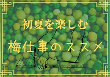 【梅仕事】子どもと作って楽しもう♪梅を使った簡単保存食レシピ